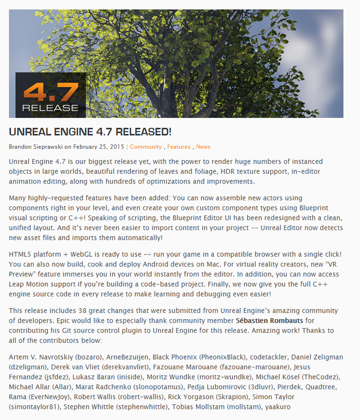 UNREAL ENGINE 4 7 RELEASED! : 네이버 블로그
