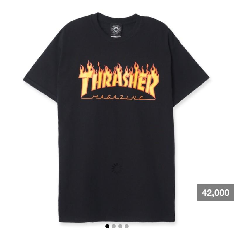01cc288b25c Thrasher/트레셔)불꽃 플레임 반팔티 사이즈팁+착용샷! : 네이버 블로그