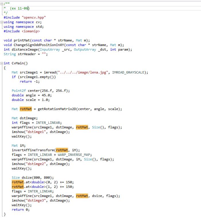 11  OpenCV-Geometrical Transformation : 네이버 블로그