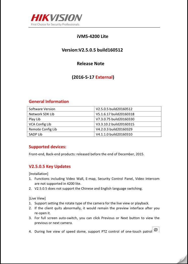 Ivms 4200 Lite Software