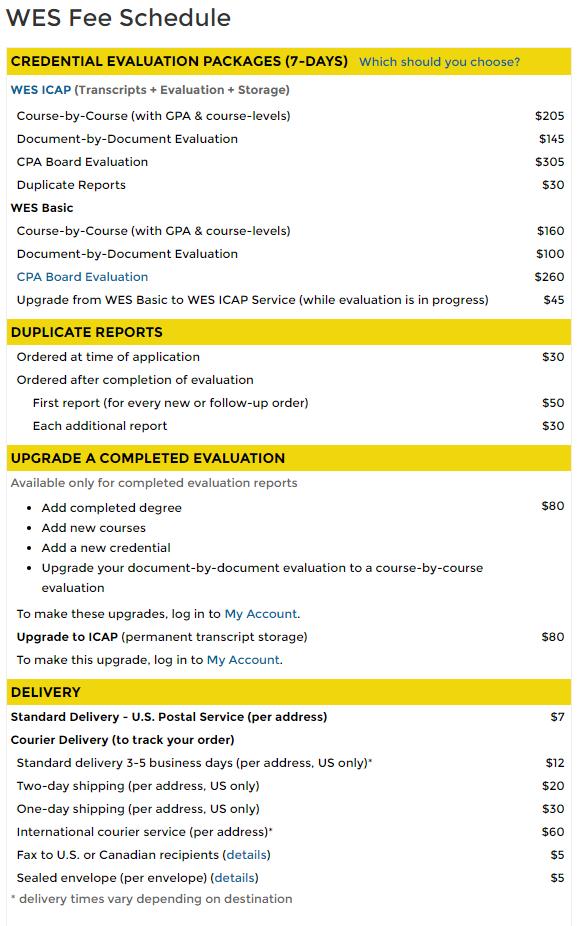 미국실용음악대학 지원시 필요한 성적공증 WES 비용 알아보기