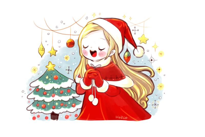 크리스마스 일러스트 채색과정 네이버 블로그