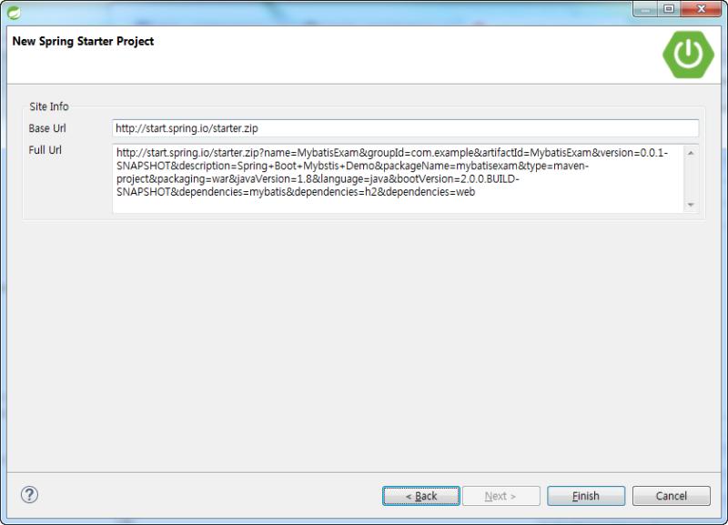 Spring Boot] Spring Boot 2 0 + Mybatis + Maven 프로젝트 구성