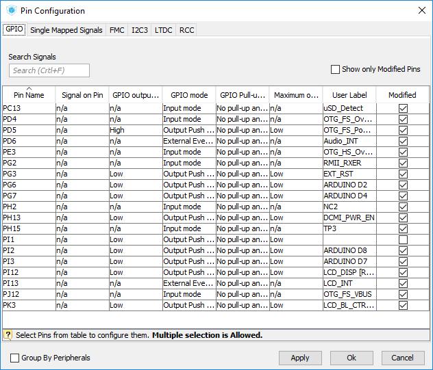 터치스크린 LCD의 사용을 위한 FMC, LTDC, I2C 초기화 (STM32F746